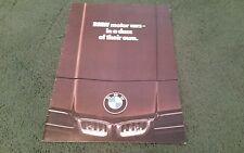 BMW 1977 UK 1/77 Range Brochure 3 5 6 7 Série 316 320 323 i 528i 733i 633 CSi