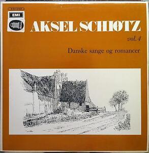 Aksel Schiotz - Danske Sange Og Romancer Vol 4 LP Mint- KELP 123 Vinyl Record