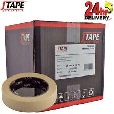 J Tape Premium Crepe Masking Tape Strong Adhesion 25mm x 50m 36 Rolls Per Box