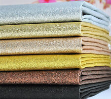 100*138cm Glitter Fabric Thick Canvas Back Craft DIY Patchwork assorted colours