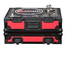 Odyssey Designer DJ Series Case for Technics Style Turntables fr1200bkred NEW