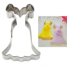 Stainless Steel Cookie Cutter Wedding Dress Cake Biscuts Cutter Fondant Mold ☆