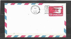 December 31,1975 United States Postal Service, Detroit, MI Airmail Envelope