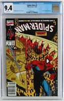 NEWSSTAND VARIANT edition, Spider-Man #3 (10 / 1990) CGC 9.4, McFarlane NEW CASE