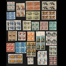 25 block-of-4 USA used postage stamps Scott #1338 to 1826 bl16