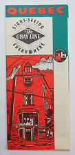 Vintage Travel Brochure Gray Line Quebec Sightseeing Everywhere Quebec Autobus