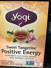 Yogi Sweet Tangerine Positive Energy Herbal Supplement Tea, 16 count, 1.02 oz
