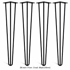 4pcs Set Hairpin Legs Furniture Table Chair Bench Desk Legs  Pin  Rods 4''-34''