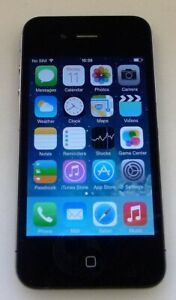Apple iPhone 4 - 16GB - Black (O2 Network) A1332 (GSM) Mobile Smartphone