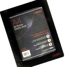 A4 DISPLAY BOOK 40 POCKETS FILE COVER ANTI-GLARE PRESENTATION FOLDER DW