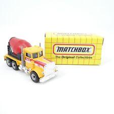 Vintage Matchbox Peterbilt Cement Truck MB19 1993 Diecast Toy Original Box