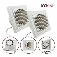2X 10CM Wandventilator Badezimmer Abluftventilator Badlüfter Ventilator Leise