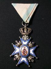 Ordre de saint Sava - Royaume de Serbie - Médaille militaire - Manteau rouge