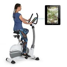 Cyclette Ergometro Bluetooth Computerizzata Collegamento Tablet Workout Fitness
