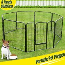 8 Panel Pet Dog Playpen Cat Play Pen Puppy Exercise Fencing Fence Enclosure Cage