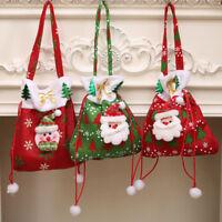 Christmas Gift Handbag Drawstring Candy Bag Merry Christmas Present  Candy Bags