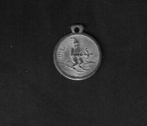 1930's Salzburg, Austria Ullr Ski Pendant/Medal