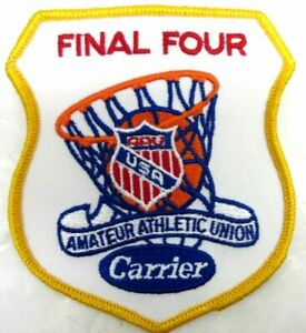 Vintage 1980's AAU BASKETBALL FINAL FOUR Patch Sponsored by CARRIER AC