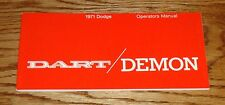 1971 Dodge Dart / Demon Owners Operators Manual 71