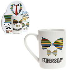 """Padre Día Taza Gres - Regalo - Color Diseño """"pajarita"""""""
