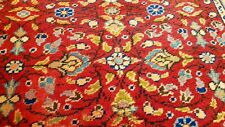 Rare Antique 1930-1940's Wool Pile Henna Dye Hereke Runner Rug 3x6ft