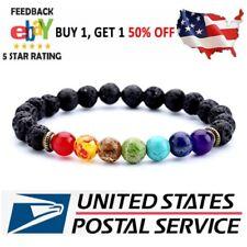 7 Chakra Healing Beaded Bracelet Natural Lava Stone Diffuser Bracelet Gift New