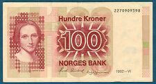 NORUEGA - 100 CORONAS Pick nº 43.d de 1992-VI en TTB+ 2270909398