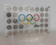 London 2012 Olympic 50p Coin Collection Complete Supplied In a Display Stand  .