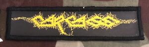 Carcass Logo Printed Patch C026P Entombed Napalm Death Bolt Thrower Morbid Angel