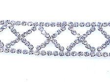 SMALL DIAMOND SHAPE RHINESTONE HAT BAND ELASTIC HEADBAND PROM BRIDAL