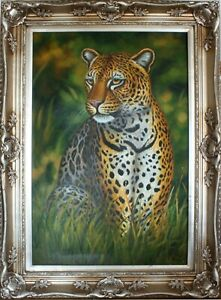 Oil painting on canvas, With/Without frame, Reproduction Artwork, The Leopard