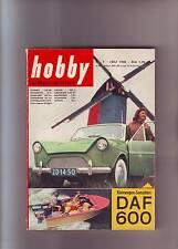 hobby 7/58 DAF 600/Segelboot & Motorboot Pionier-Dingl/Seebiene Modell/1958/Juli