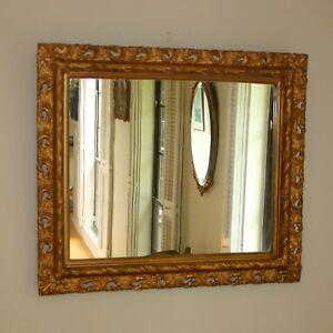 Vintage Gilded Florentine Style Over Mantle Mirror