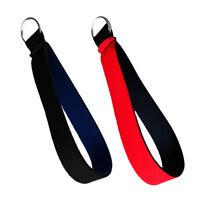 2 Set Neoprene Keychain Wrist Strap Band Key Holder Lanyard Key Rings