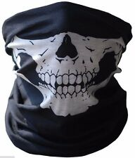 New Skull Half Face Bandana Skeleton Ski Motorcycle Biker Paintball Mask Scarf