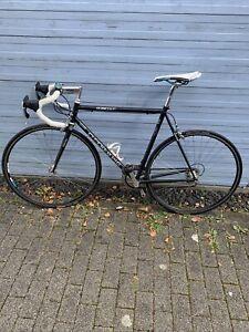 Rennrad Stahlrahmen RH 57cm Schwarz Checker Pig 2/8fach Campagnolo