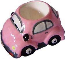 Pink VW Volkswagen Beetle Bug Ceramic Breakfast Egg Cup Egg Holder