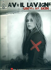 """AVRIL LAVIGNE """"UNDER MY SKIN"""" GUITAR-TAB/VOCAL MUSIC BOOK BRAND NEW ON SALE!!"""