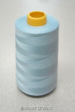 1 SPOOL LIGHT BLUE 100%  POLYESTER SERGER QUILTING THREAD T27 6000 YARDS #778