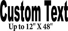"""Custom Sign up to 12""""X48"""" Decal store front Letters Car Window business decals"""