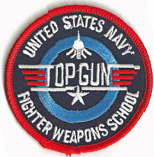 NAVY - TOP GUN - IRON ON PATCH