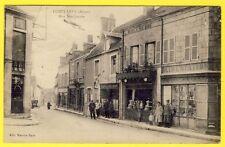 cpa 03 - LURCY LÉVIS (Allier) Rue JEAN JAURÈS Animée Commerces