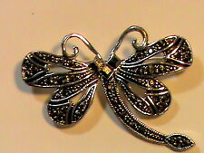 Brooch Marcasite DragonFly