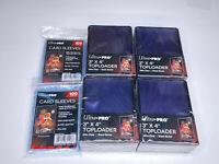 (100)Ultra-Pro Black Border Standard Hard Card Toploaders+(200) soft sleeves
