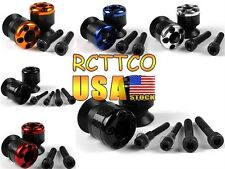 US Ship 6mm Carbon Fiber Swingarm Sliders Spools For Yamaha YZF R6/R1 1999-2013