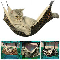 Cat Hammock LARGE Leopard Bed Animal Hanging Cage Comforter Ferret Pet