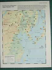 WW2 WWII MAP ~ SOVIET INVASION OF MANCHURIA AUG-SEPT 1945 FRONT LINE ADVANCES