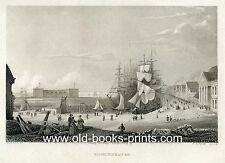 Bremerhaven - Ansicht. Stahlstich von 1841 - schönes Original! Ebay-Sonderpreis!