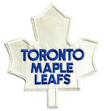 """1970-82 TORONTO MAPLE LEAFS NHL HOCKEY 10"""" AWAY ROAD JERSEY FRONT PATCH"""