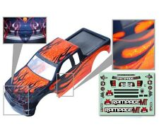 1:5 Redcat Rampage Monster RC Truck Orange & Black Body Shell With Decals MT XT
